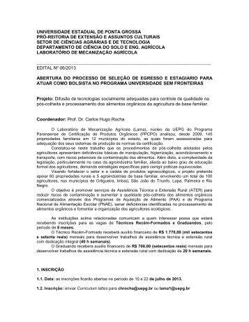 UNIVERSIDADE ESTADUAL DE PONTA GROSSA