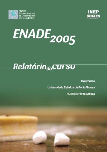 Matemática - Universidade Estadual de Ponta Grossa