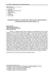 a pesquisa documental e a história oral - Universidade Estadual de ...