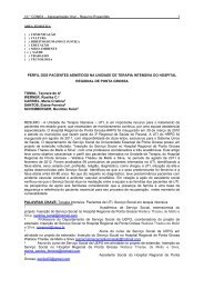 perfil dos pacientes admitidos na unidade de terapia intensiva do ...