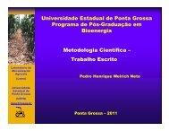 Trabalho Escrito - Universidade Estadual de Ponta Grossa