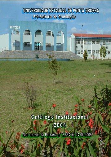 Institucional - Universidade Estadual de Ponta Grossa