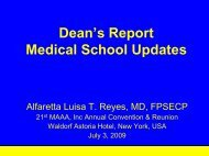 MAAA Dean's report 09-10, July 3, 2009.pdf - UERMMMC Alumni ...