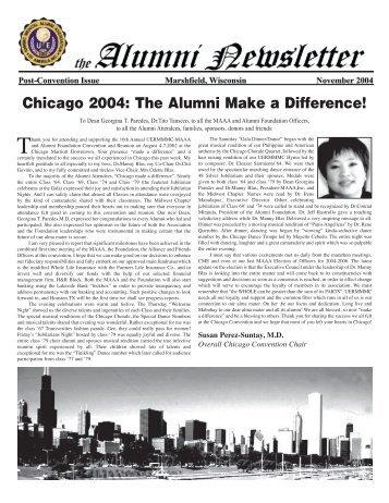 Alumni Newsletter 112904 - UERMMMC Alumni Foundation USA, Inc.