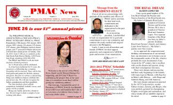 PMAC News - UERMMMC Alumni Foundation USA, Inc.
