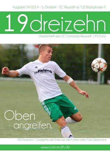 19dreizehn - Magazin des SC Reusrath Ausgabe 04
