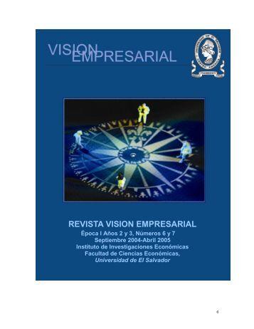 REVISTA VISION EMPRESARIAL - Universidad de El Salvador