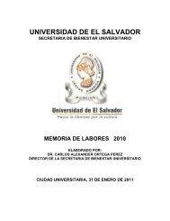 1. Principales Logros - Universidad de El Salvador