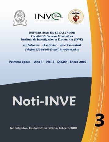 Noti-INVE - Universidad de El Salvador
