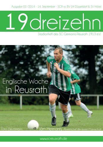 19dreizehn - Magazin des SC Reusrath Ausgabe 03