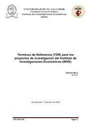 Términos de Referencia (TDR) para los proyectos de investigación ...