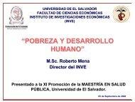 POBREZA Y DESARROLLO HUMANO - Universidad de El Salvador