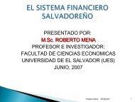 el sistema financiero salvadoreño - Universidad de El Salvador
