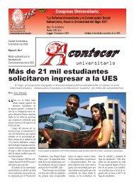 Acontecer - Universidad de El Salvador