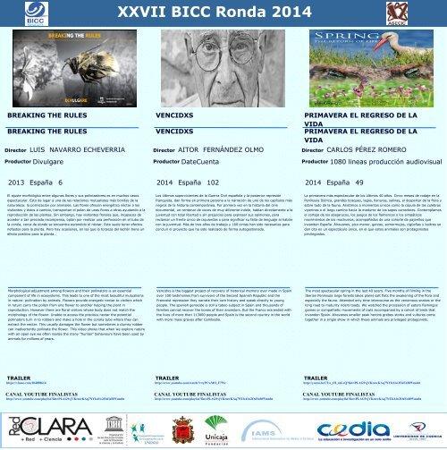 XXVII BICC Ronda 2014