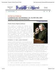 PETER SLOTERDIJK: LA MÚSICA DE LAS ESFERAS Y EL OLVIDO DEL SER SOBRE TODOS LOS ALTAVOCES. Dr. Adolfo Vásquez Rocca