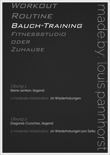 Bauch Training