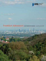 Frankfurt lebenswert ABG FRANKFURT HOLDING ...