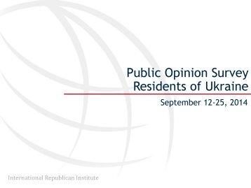 2014 October 14 Survey of Residents of Ukraine, September 12-25, 2014
