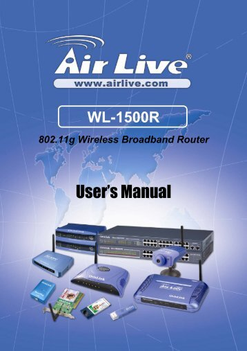 Airlive WL-1500R User's Manual