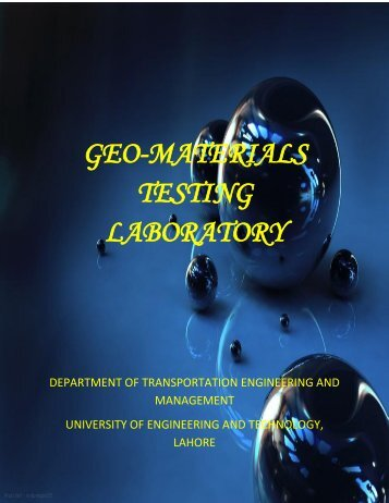 Geomaterials Testing Lab. - University of Engineering and Technology