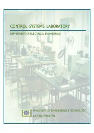 control systems laboratory - University of Engineering and Technology