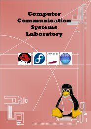 Computer Communications Systems Lab - University of Engineering ...