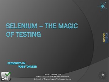 Selenium - University of Engineering and Technology