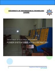 Power Systems Lab - University of Engineering and Technology