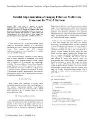 Parallel Implementation of Imaging Filters on Multi-Core Processors ...