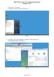 DHCP für LAN einschalten (Windows Vista) - Uewag-box.de