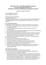 Protokoll der Jahreshauptversammlung 2010 - Institut für Ur