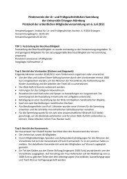 Protokoll der Jahreshauptversammlung 2011 - Institut für Ur