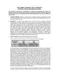 official rules and regulations - UFA.com