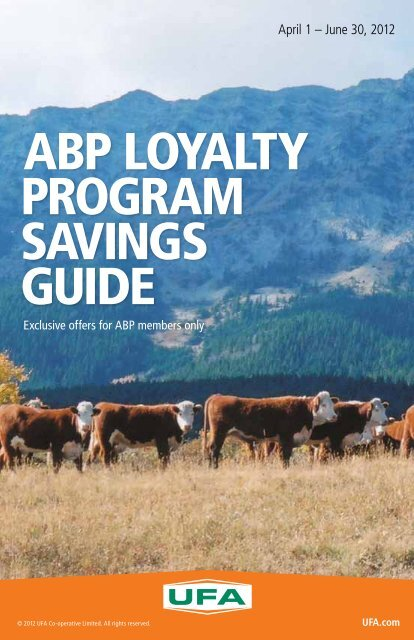 ABP LoyALty ProgrAm SAvingS guide - UFA.com