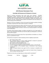 UFA Cooperative Limited 2012 Director Nomination Form - UFA.com