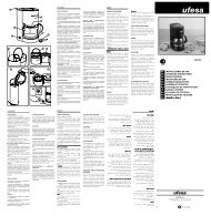cg7215 es instrucciones de uso gb operating instructions fr ... - Ufesa