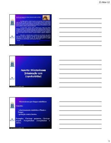 Micotoxicoses (Claviceps purpurea) - UFF