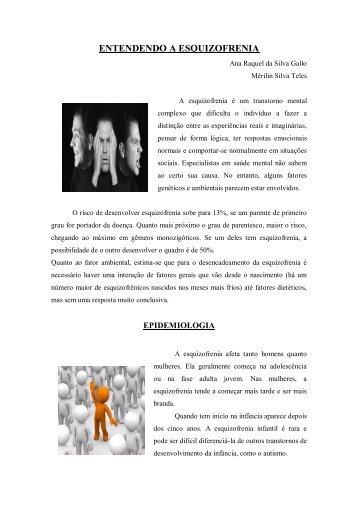 ENTENDENDO A ESQUIZOFRENIA - UFF