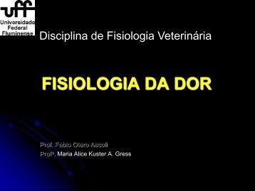 FISIOLOGIA DA DOR - UFF