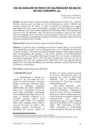 sig na análise do risco de salinização na bacia do rio coruripe ... - UFF