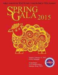 2015 Twelfth Annual Gala Night, February 21 2015 at Ocean Palace Restaurant, Houston TX.