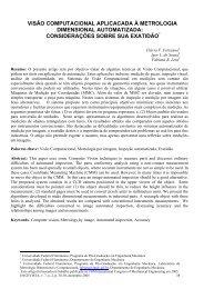 visão computacional aplicada à metrologia dimensional ... - UFF