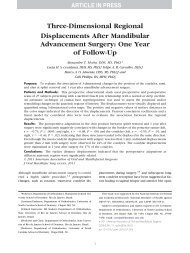 Three-Dimensional Regional Displacements After Mandibular ... - UFF