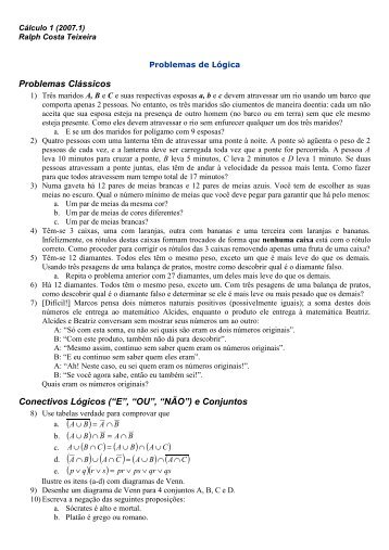 Lista 1 de Lógica Matemática - UFF