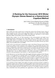 A Ranking for the Vancouver 2010 Winter Olympic Games ... - UFF