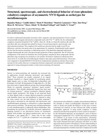 Structural, spectroscopic, and electrochemical behavior of trans - UFF