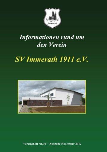 Heft 10 SV Immerath