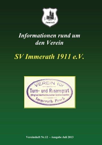 Heft 12 SV Immerath