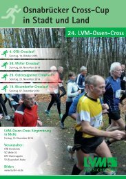 19. Bissendorfer Cross-Lauf  | 24. LVM-Ossen-Cross